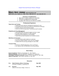 sle of functional resume cover letter exles of functional resumes exles of functional