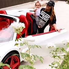 tyga yellow bentley blac chyna shows off new ferrari after returning luxury cars to