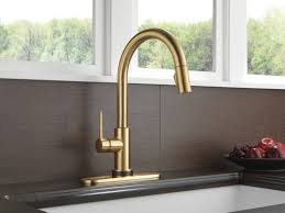 brass champagne bronze kitchen faucet deck mount single handle