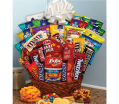 junk food basket gourmet food baskets delivery zanesville oh miller s flower shop