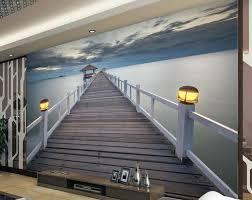 online get cheap fabric wall murals aliexpress com alibaba group custom 3d wall murals wallpaper wooden bridge landscape high quality 3d wallpaper murals for living room
