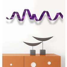 Home Wall Decor And Accents by Amazon Com Abstract Purple Metal Wall Sculpture Contemporary