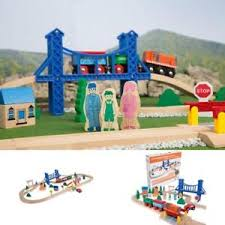 melissa and doug train table and set wooden train track set 52 pieces table railway toy fits thomas