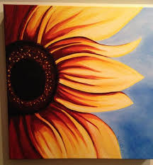 bathing by paintingsbykelley on etsy sunflower canvas