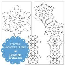printable snowflake outline u2014 printable treats com