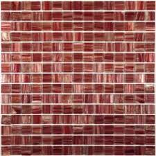 Red Tile Backsplash - red and silver mosaic glass tiles for kitchen and bathroom