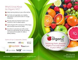 organic fruit delivery go organic corporate brochure