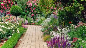 Cottage Gardening Ideas Cottage Garden Ideas With Brick Pavements As The Path To The