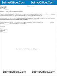 Request Letter Of Bank Statement bank statement request letter application for although 7