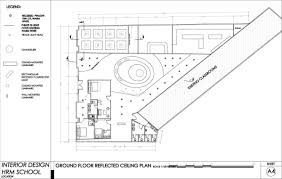 Reflected Floor Plan by Interior Design For For Hotel U0026 Restaurant Management By