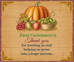 thanksgiving messages to clients free design and templates