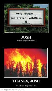 Only You Can Prevent Forest Fires Meme - josh can prevent forest fires reposti