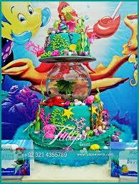 little mermaid party theme decoration ideas in pakistan