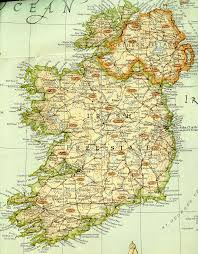 Map Of Ireland And England by The Irish Ancestral Research Association Tiara Links