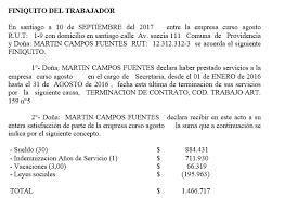 calculadora de finiquito en chile remuneraciones online 100 empresas 1 usuario 1 año