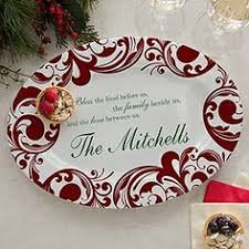 personalized serving trays platters serving platter it s time for christmas best
