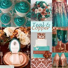 teal wedding decorations teal and gold wedding table teal and copper wedding colors