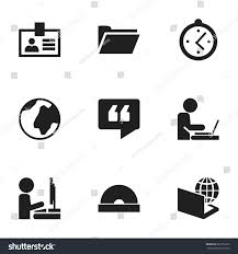 icon bureau set 9 editable bureau icons includes เวกเตอร สต อก 682716370