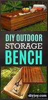 Outdoor Patio Storage Bench Plans by Best 25 Storage Benches Ideas On Pinterest Diy Bench Benches