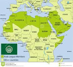 map arab arab league map ambear me