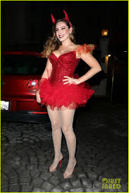 kids halloween devil costumes kelly brook shows off her horns for halloween party photo 3231933