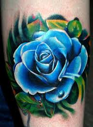 beautiful blue rose tattoo image