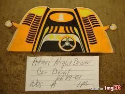 arcade atari parts nos night driver car sticker 6689 01 1 pcs a