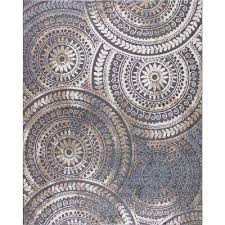 Modern Gray Rug 5 X 7 Modern Area Rugs Rugs The Home Depot