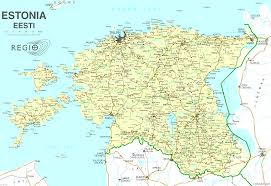 Map Of St Barts by Estonia Online Maps Geographical Political Road Railway
