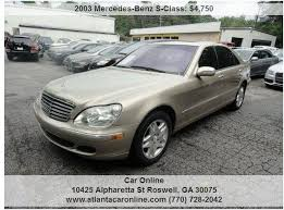 mercedes roswell ga 2003 mercedes s class s 500 4dr sedan in roswell ga car