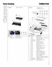 canon printer manuals canon pixma ip100 parts and service manual