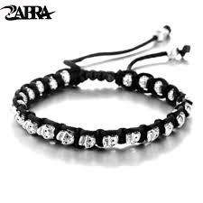mens silver jewelry bracelet images Zabra real 925 silver bracelet men vintage skull rope mens jpg