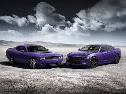 New Muscle Cars - purple dodge chargers challengers are hitting the road