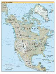 South America Map Countries And Capitals by North America Large Detailed Political Map With Relief All