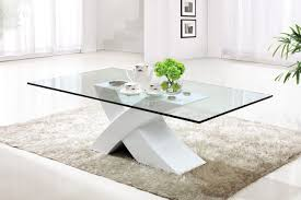 wood and glass coffee table creative glass coffee table small