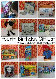 fourth birthday gift list play and learn every day