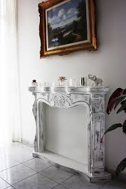 Shabby Chic Fireplaces by Faux Fireplace Cornice Camino Shabby Chic Disponibile Su Www