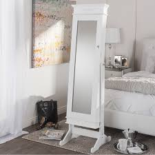 Full Length Mirror In Bedroom Furniture Full Length Mirror Jewelry Armoire With Console Table
