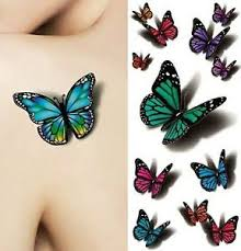 small butterfly temporary tattoos for kit temp 3d