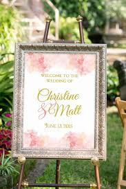 wedding sign printable summer wedding decor blush and gold