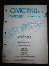 1990 omc johnson ultra evinrude excel outboard parts catalog