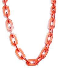long orange necklace images Zenzii lovely link long resin chain necklace n729 orange jpg