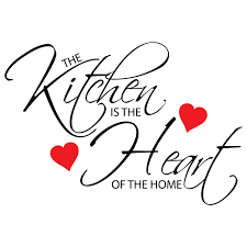 the kitchen is the heart of the home wall sticker sticker the kitchen