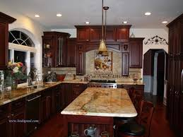 Kitchen Desk Cabinets Kitchen Backsplash Ideas With Cherry Cabinets Front Door Home