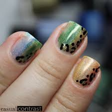 holographic dry brush nail art for st patrick u0027s day u2022 casual