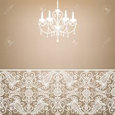 Antique Chandelier Antique Chandelier Light In The Room With Vintage Wallpaper