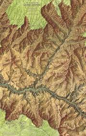 Grand Canyon National Park Map Mapcarte 100 365 The Heart Of The Grand Canyon By The National