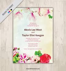 wedding invitations vector wedding invitation card design 123freevectors