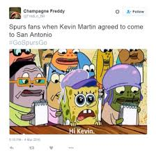 champagne celebration cartoon spurs fans celebrate signing of kevin martin with hilarious memes