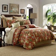 Beachy Comforters Sets Brown Color Tropical Bedding Sets U2013 Home Design And Decor